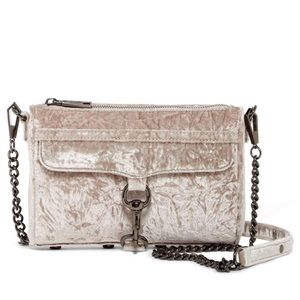 NWT Rebecca Minkoff velvet mini Mac crossbody bag